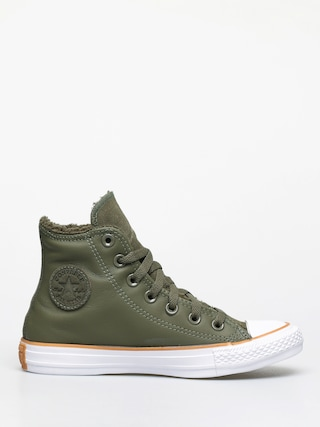 Converse Chuck Taylor All Star Hi Faux Leather Chucks Wmn (field surplus/white/honey)