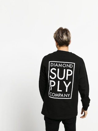 Diamond Supply Co. Stacked Type Longsleeve (black)