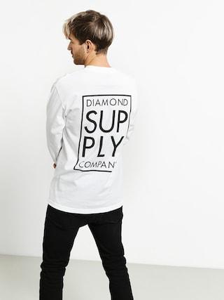Diamond Supply Co. Stacked Type Longsleeve (white)