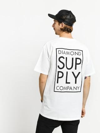 Diamond Supply Co. Stacked Type T-shirt (white)