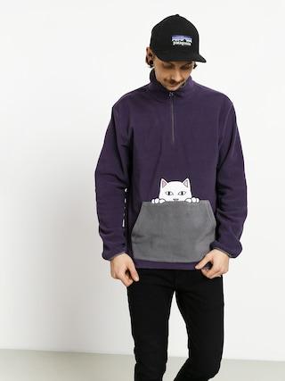 RipNDip Peeking Nerm Brushed Fleece Half Zip Fleece (purple/grey)