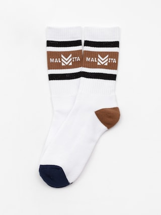 Malita Mlt Royal Socks (white/brown)