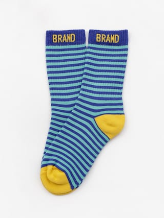 Malita Mlt Socks (navy/aqua stripes)
