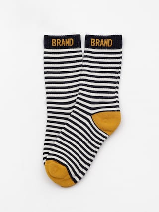 Malita Mlt Socks (white/navy stripes)