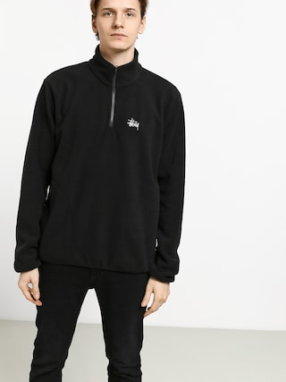 Stussy Basic Polar Fleece Mock Sweatshirt (black)