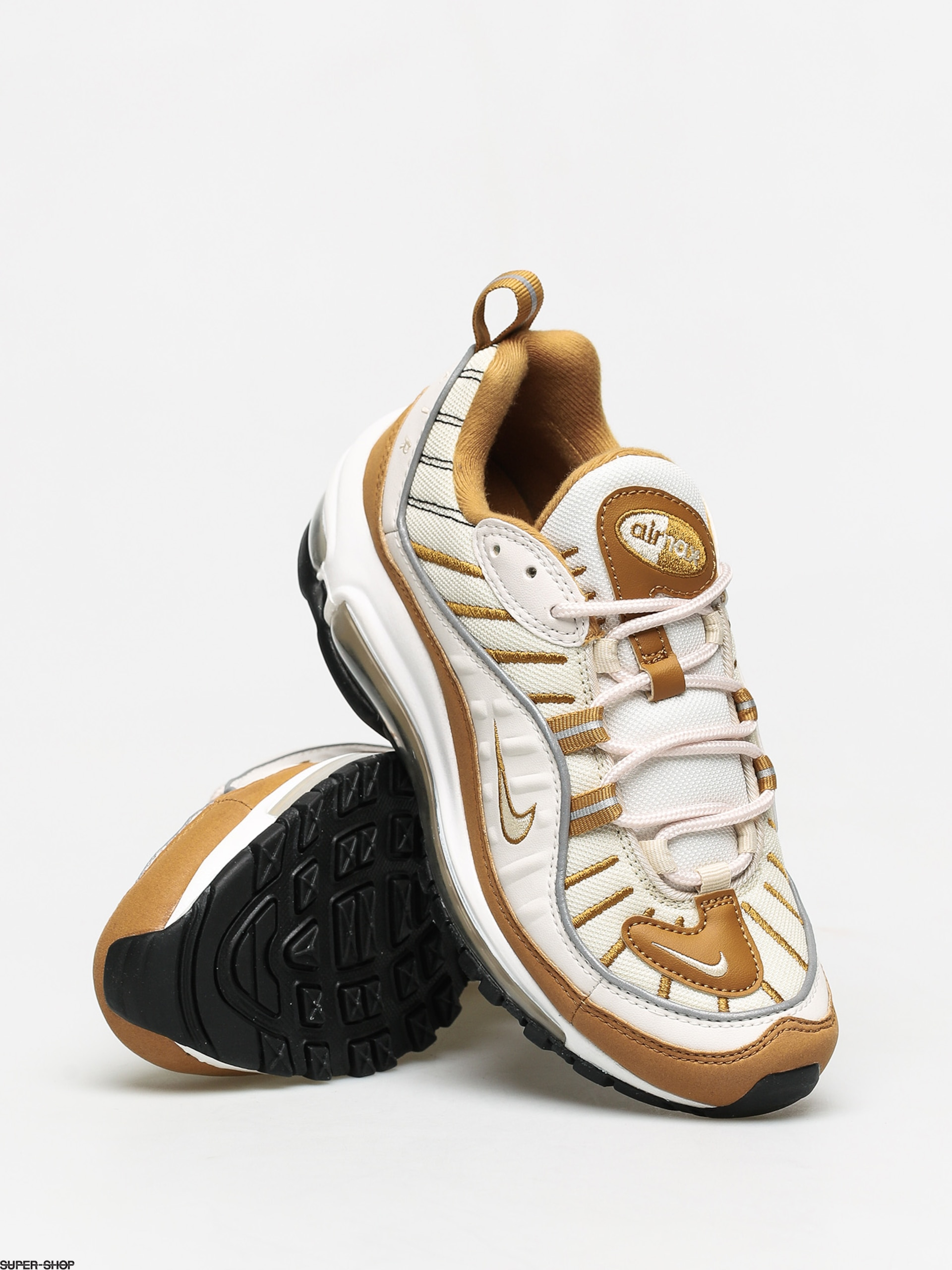 Nike Air Max 98 Shoes Wmn (phantom/beach wheat reflect silver)