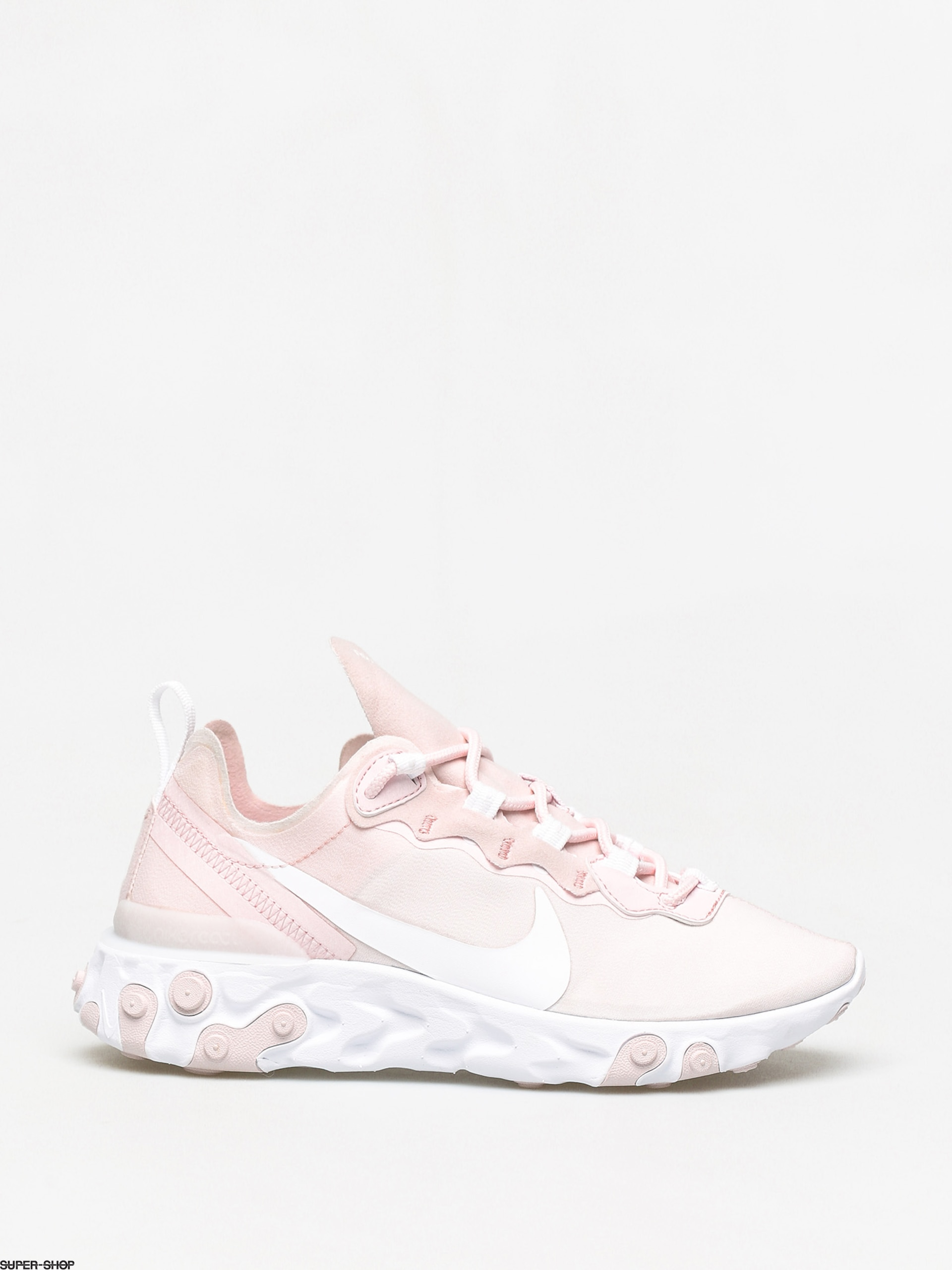 Nike React Element 55 Shoes Wmn (pale pinkwhite white pale pink)