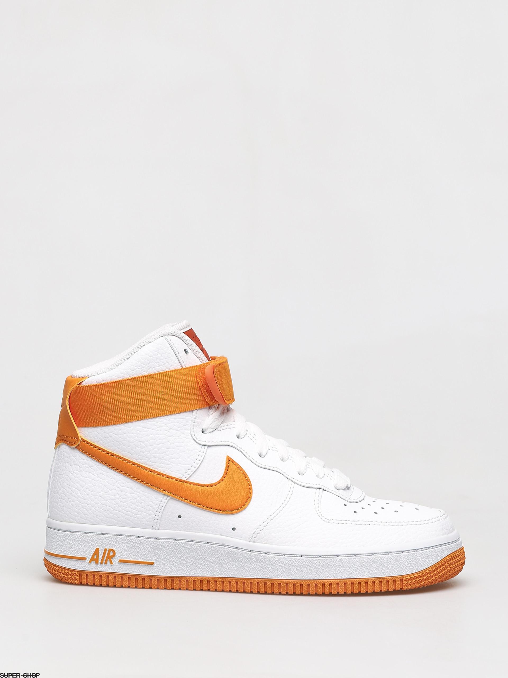air force 1 high white orange