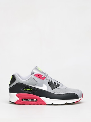 Nike Air Max 90 Essential Shoes (wolf grey/white rush pink volt)