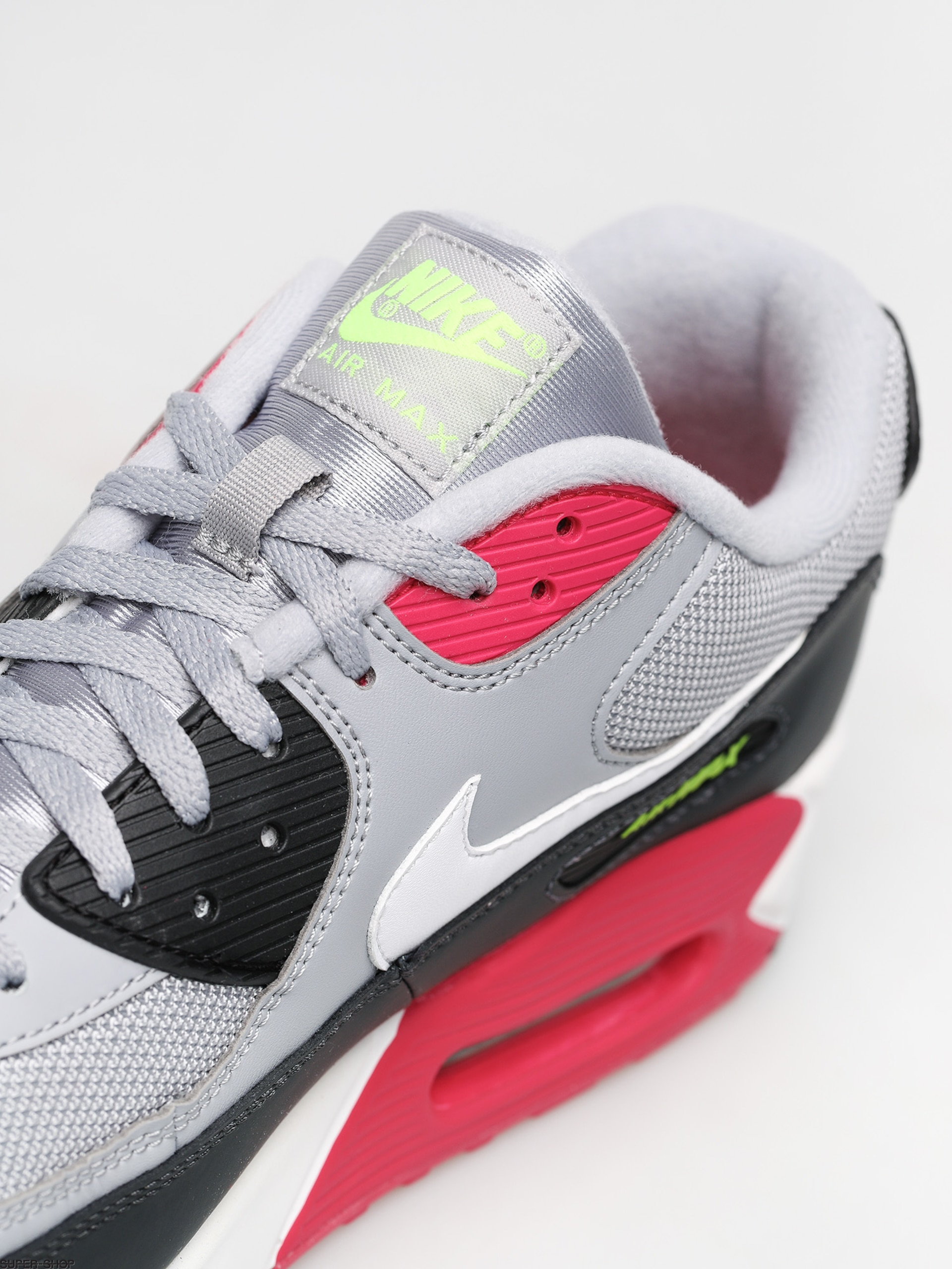 Nike Air Max 90 Essential Shoes (wolf greywhite rush pink volt)
