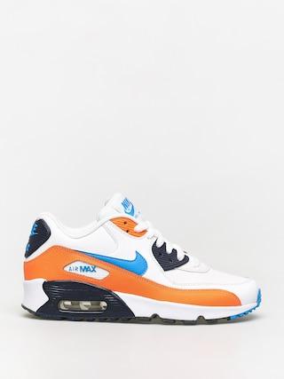 Nike Air Max 90 Ltr Gs Shoes (white/photo blue total orange)