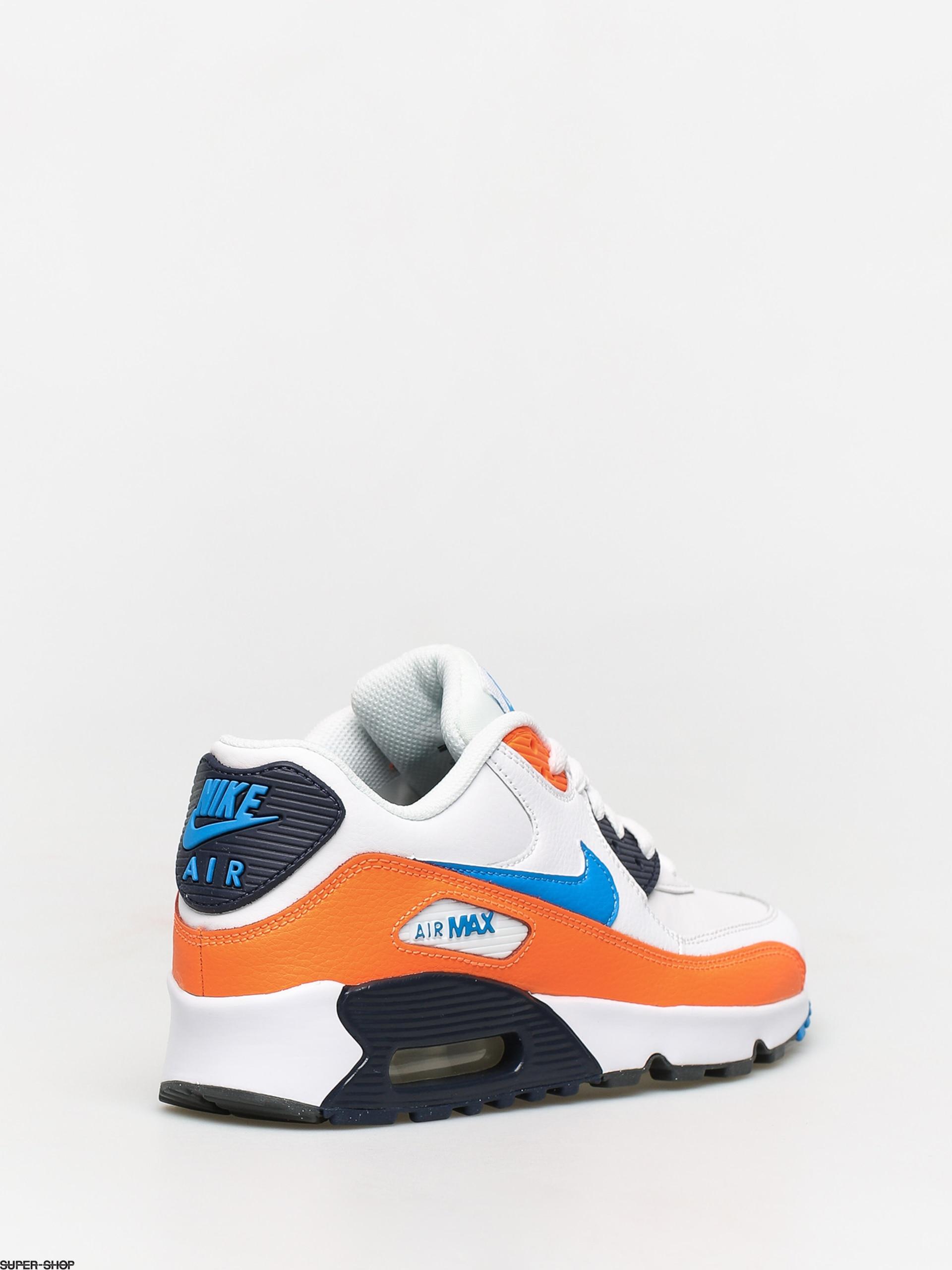 Nike Air Max 90 LTR (GS) Sneakers WhitePhoto BlueTotal Orange