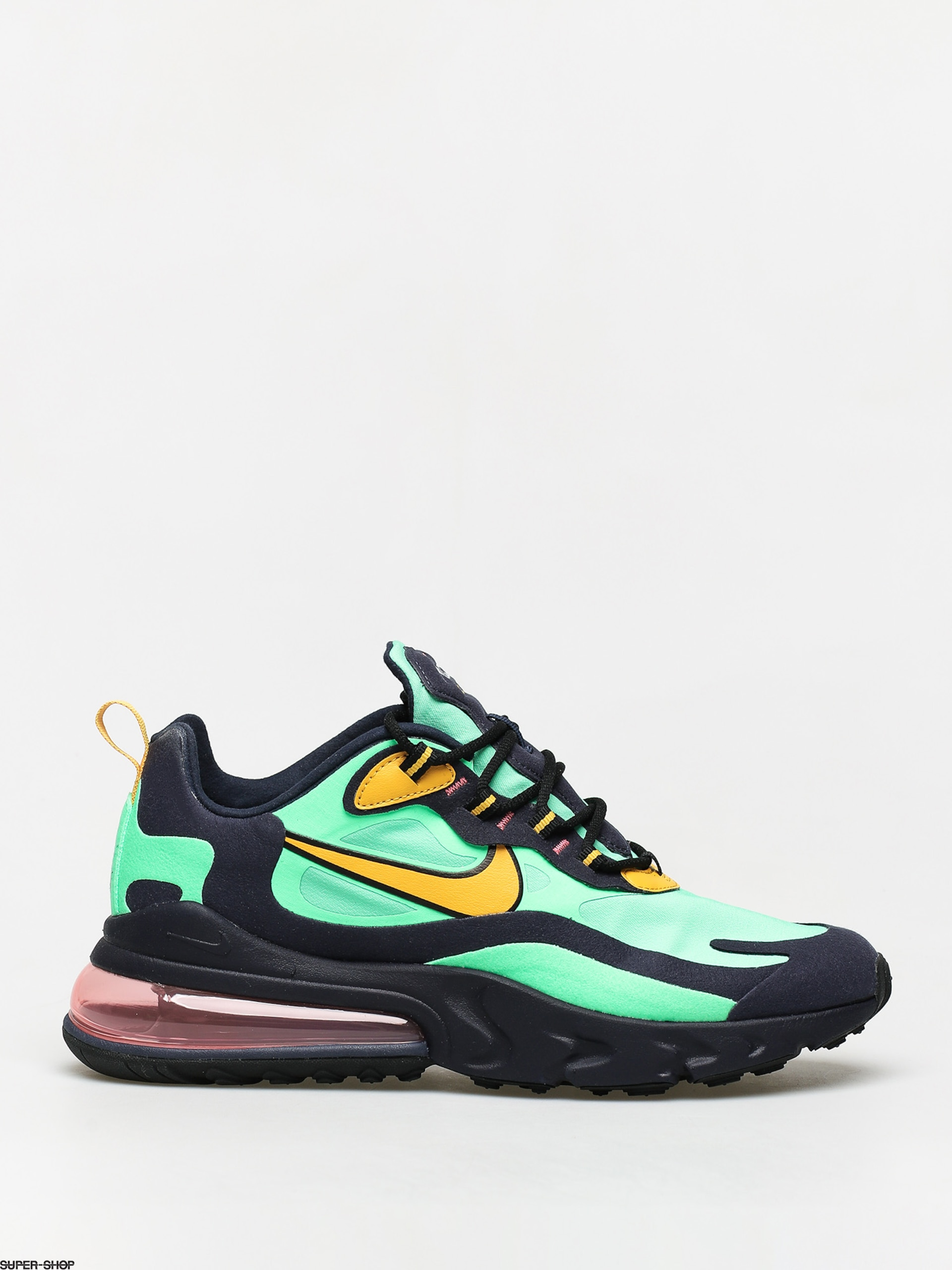 Nike Air Max 270 React Shoes (electro greenyellow ochre obsidian)