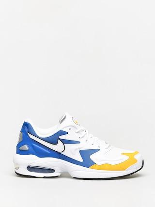 Nike Air Max2 Light Prm Shoes (white/white university gold game royal)