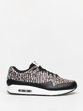 Nike Air Max 1 Premium Shoes (black/white total orange)