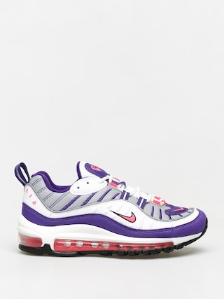 Nike Air Max 98 Shoes Wmn (white/racer pink reflect silver black)