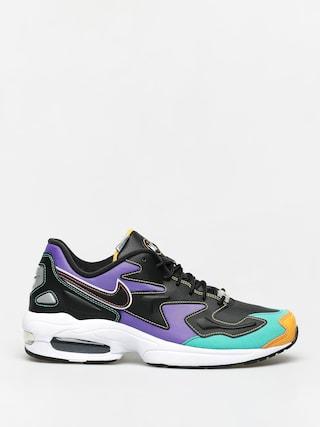 Nike Air Max2 Light Prm Shoes (black/flash crimson kinetic green)