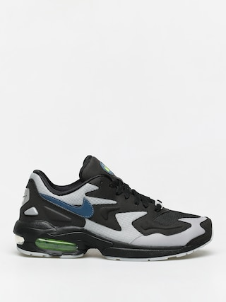 Nike Air Max2 Light Shoes (black/thunderstorm wolf grey volt)