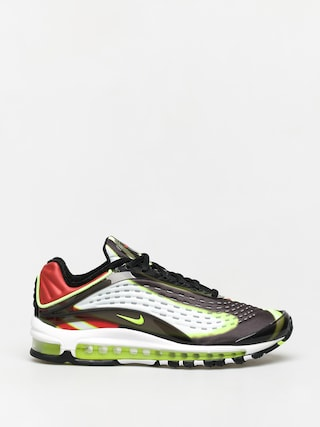 Nike Air Max Deluxe Shoes (black/volt habanero red white)