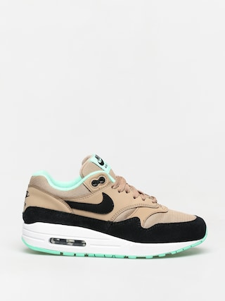 Nike Air Max 1 Shoes Wmn (desert/black green glow white)