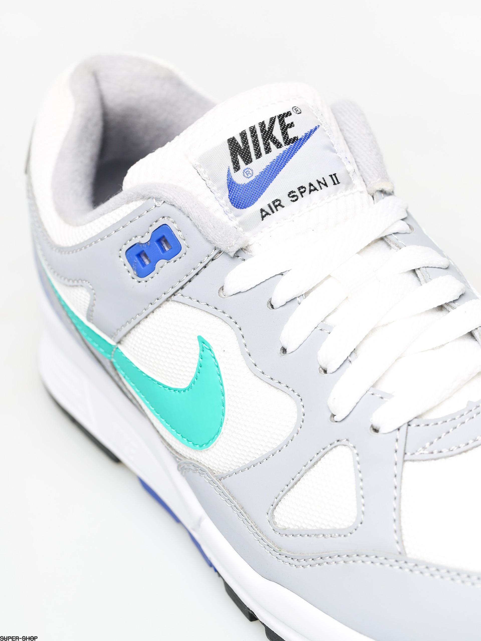 nike AIR SPAN II WOLF GREYCLEAR EMERALD WHITE RACER BLUE bei
