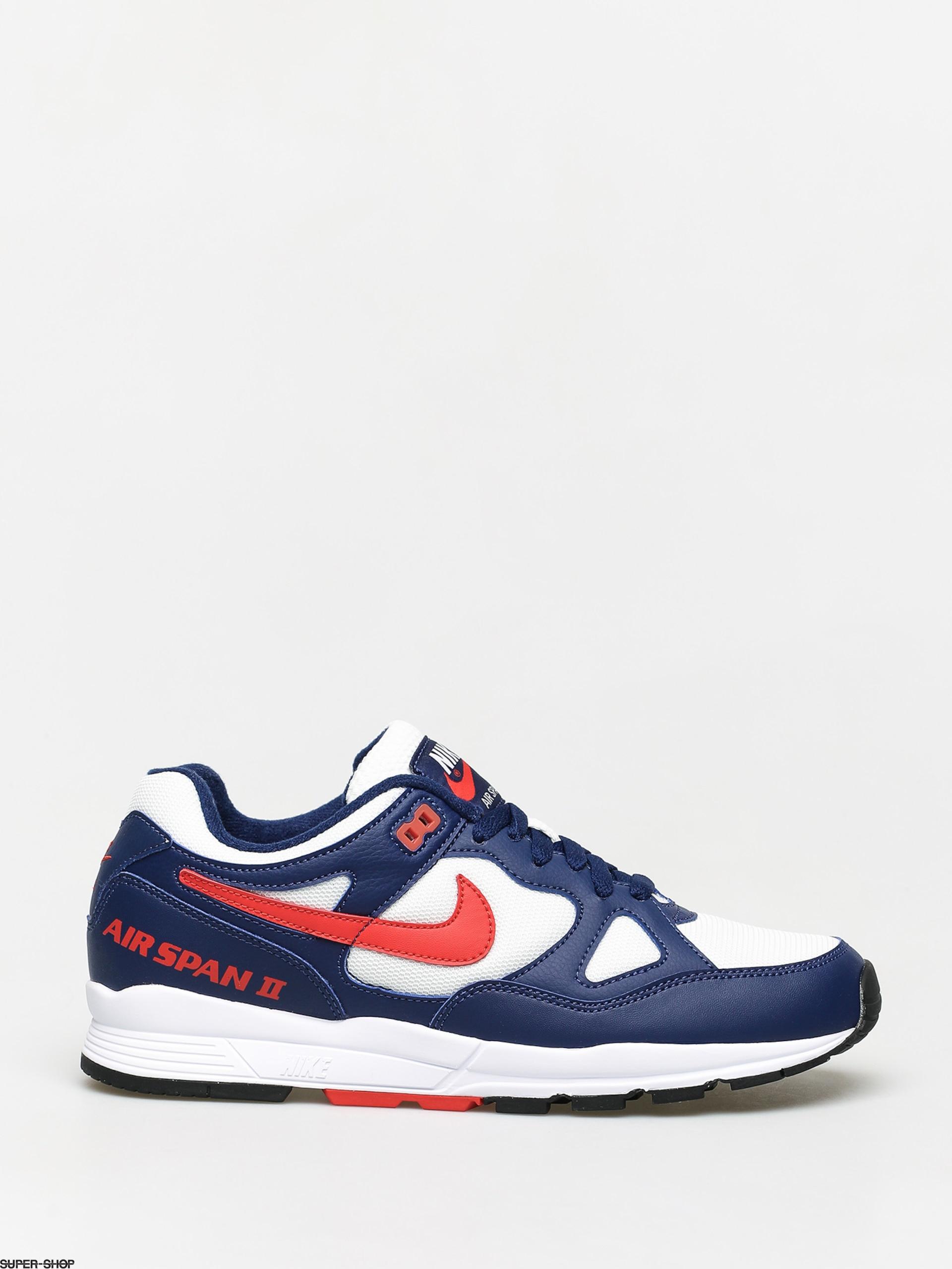 Alas ballet Rebobinar  Nike Air Span II Shoes (blue void/habanero red white black)