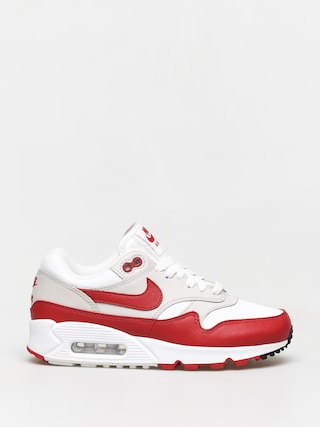 Nike Air Max 90/1 Shoes Wmn (white/university red neutral grey black)