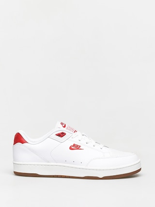 Nike Grandstand II Premium Shoes (white/university red gum med brown black)