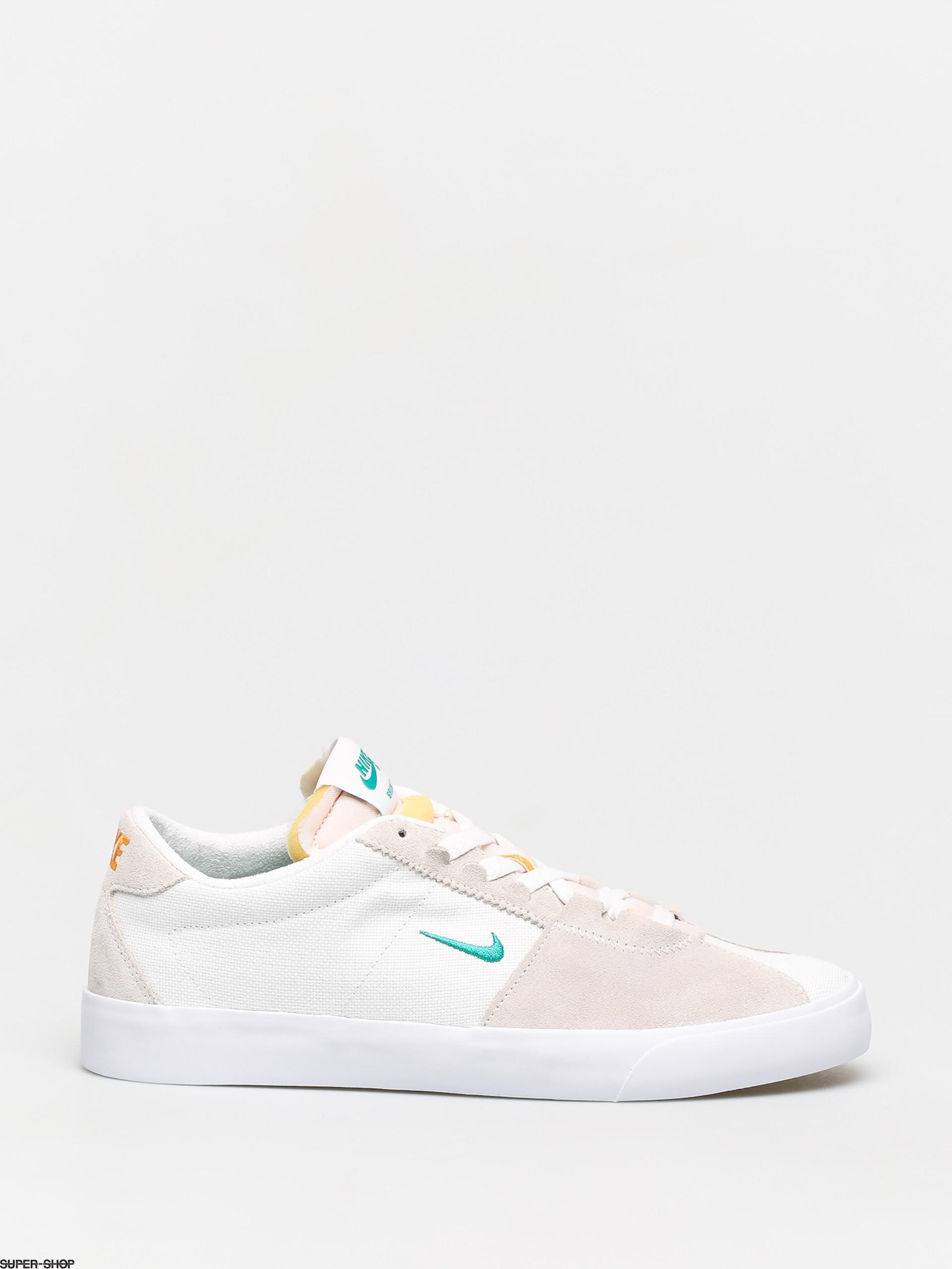 Nike SB Air Zoom Bruin Edge Shoes (white/neptune green vivid orange)