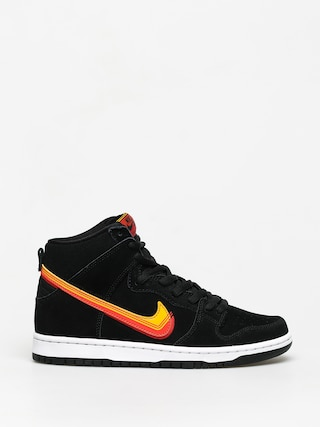Nike SB Dunk High Pro Shoes (black/university gold team orange)