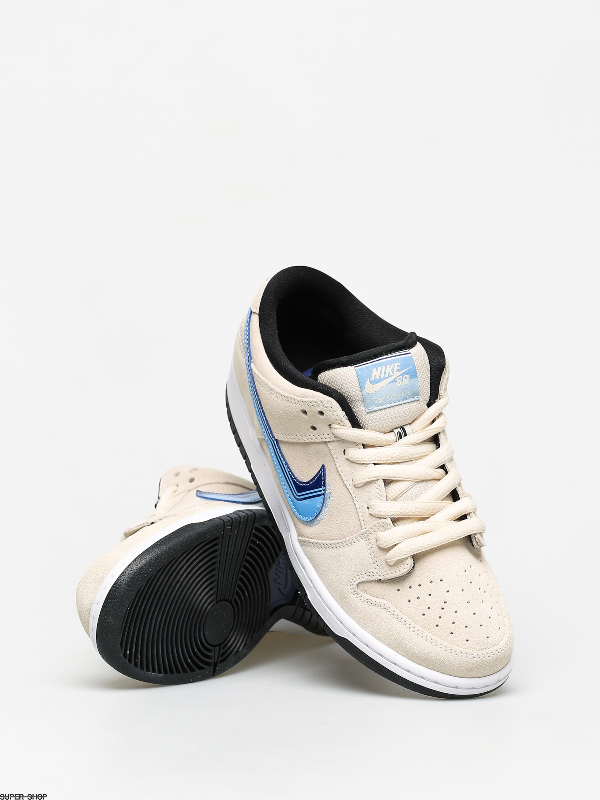 Contratista Himno descuento  Nike SB Dunk Low Pro Shoes (light cream/deep royal blue)