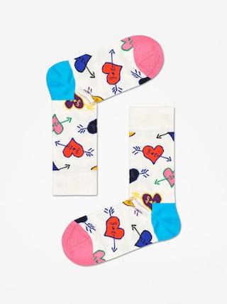 Happy Socks Linda And Johnny Ramone Socks (natural/blue/pink)