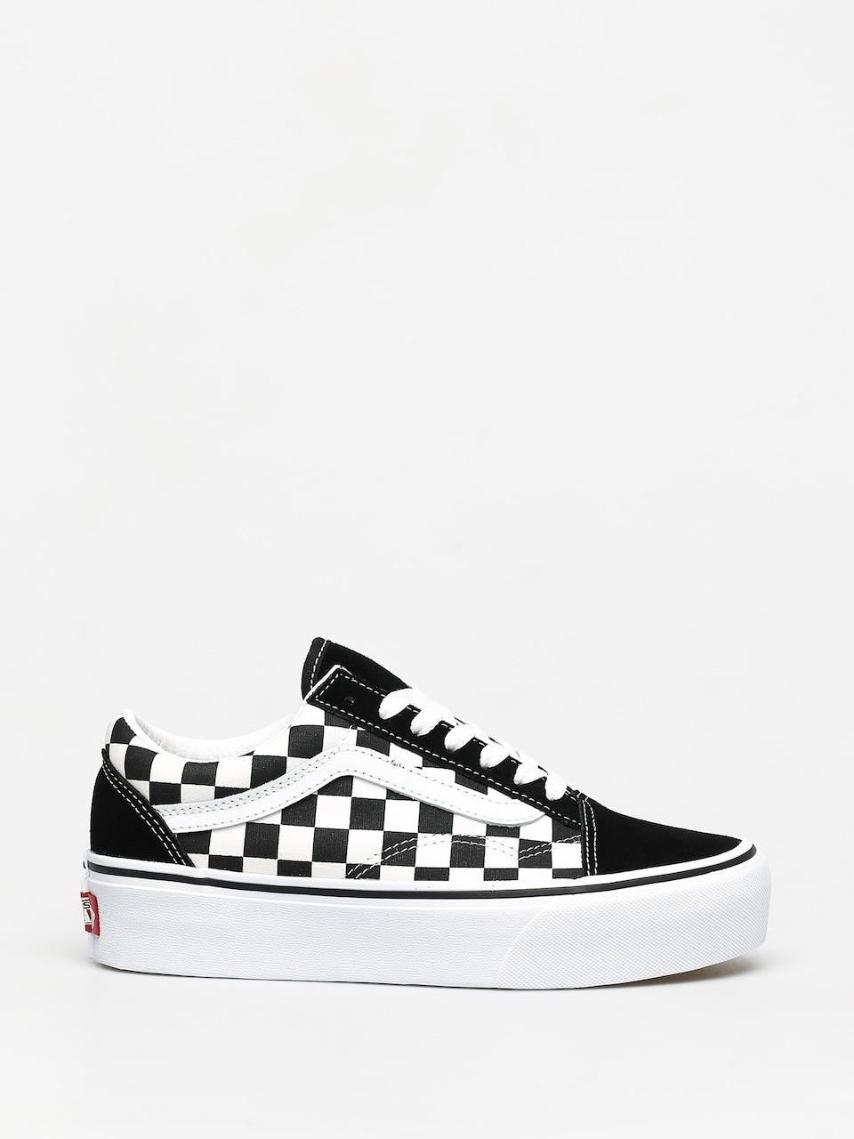 Vans Old Skool Platform Shoes (checker)