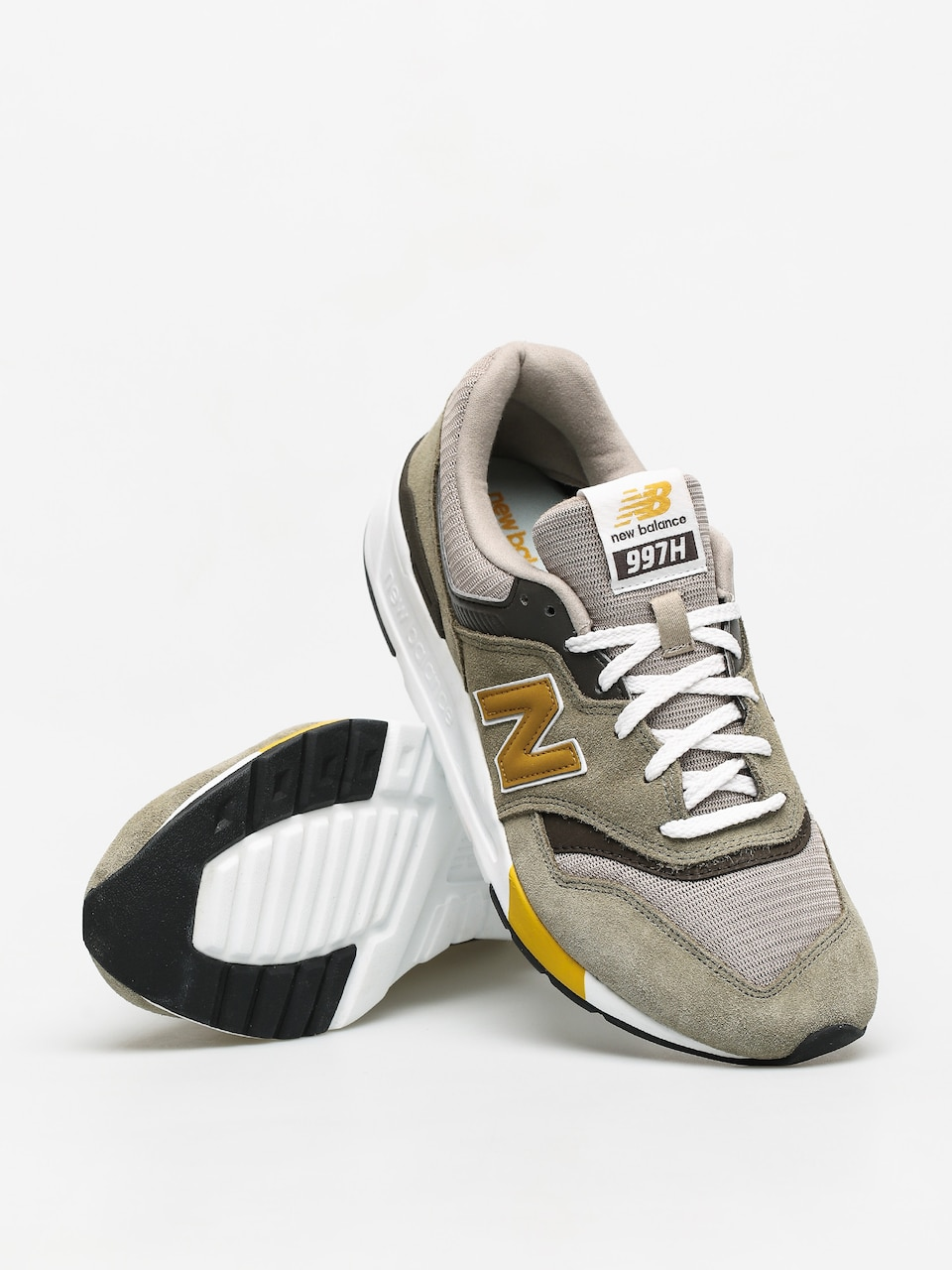 New Balance 997 Shoes (green/gold)