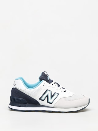 New Balance 574 Shoes (white/navy)