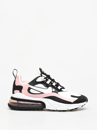 Nike Air Max 270 React Shoes Wmn (black/white bleached coral metallic gold)
