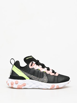 Nike React Element 55 Premium Shoes Wmn (black/volt coral stardust)