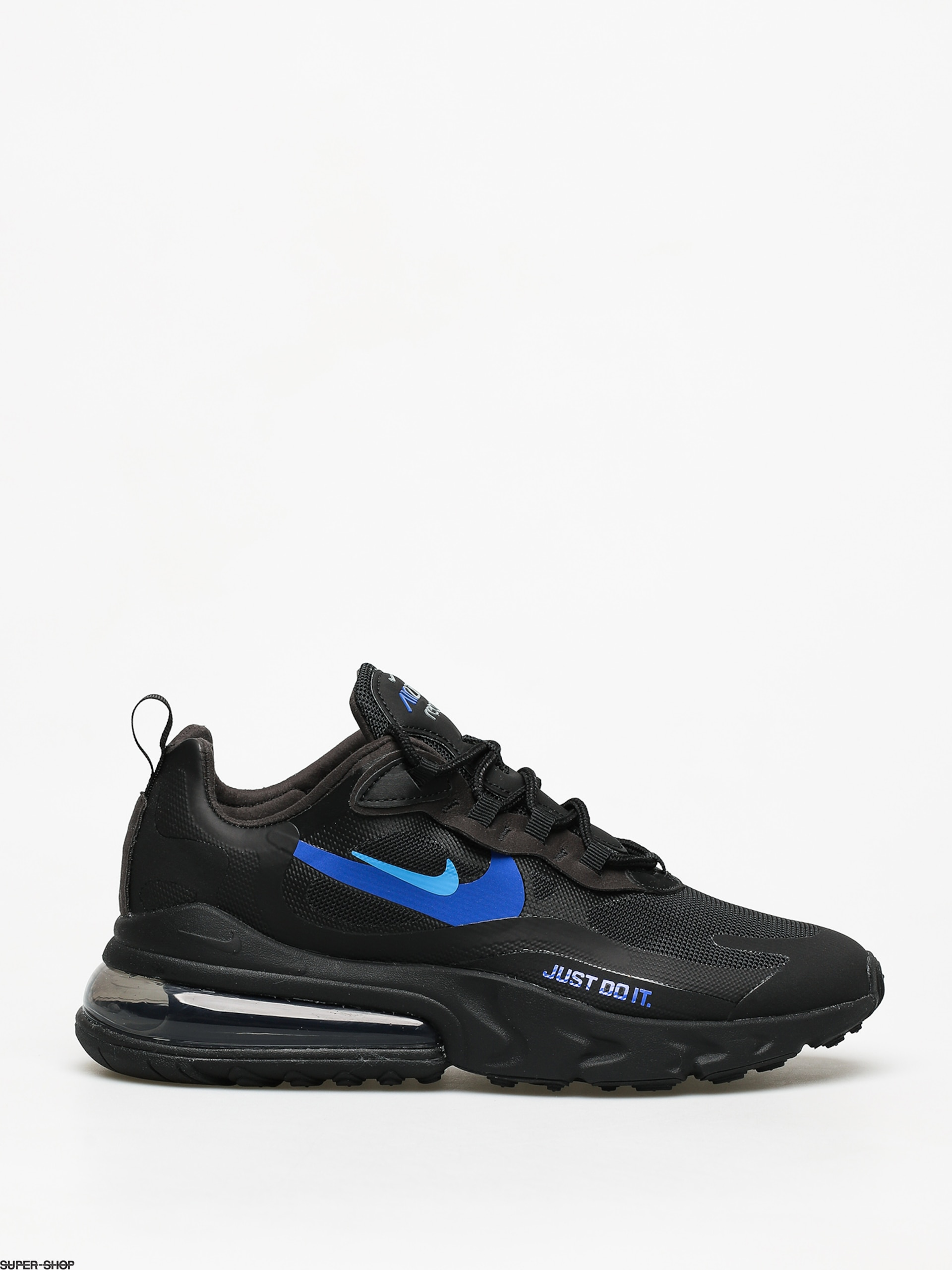 correr Descompostura cartucho  Nike Air Max 270 React Shoes (black/blue hero hyper royal cool grey)