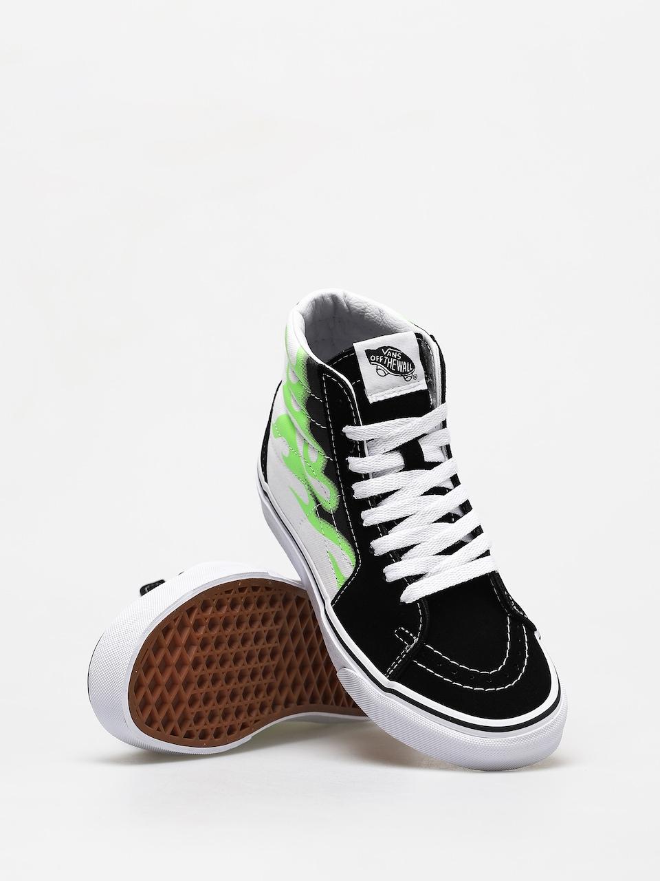 Vans Sk8 Hi Shoes (flame black/true white)