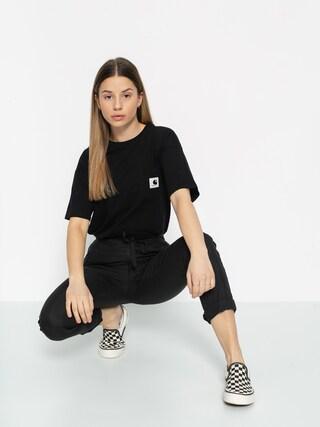 Carhartt WIP Carrie Pocket T-shirt Wmn (black/ash heather)