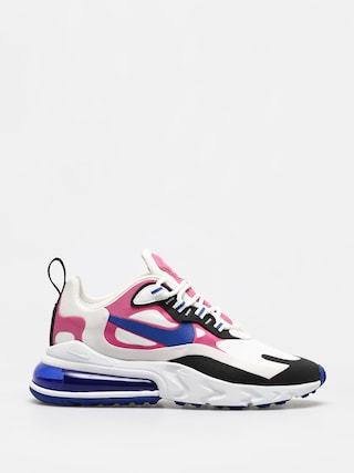 Nike Air Max 270 React Shoes Wmn (summit white/hyper blue cosmic fuchsia)