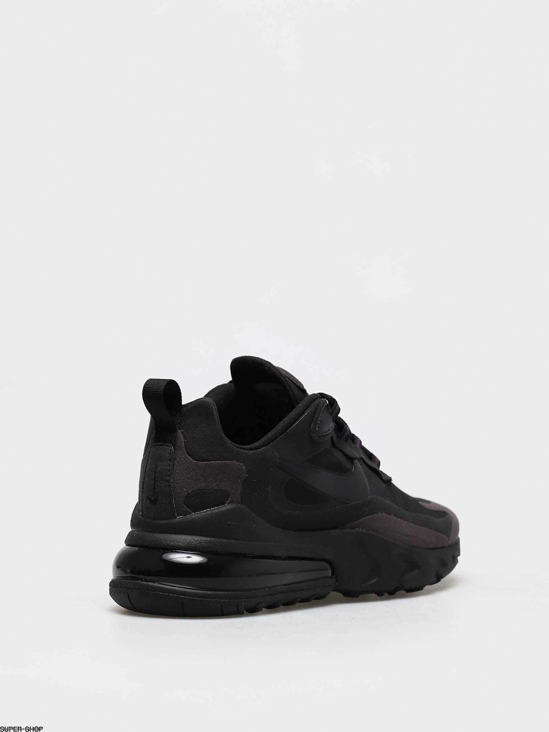 código Ejército taquigrafía  Nike Air Max 270 React Shoes (black/oil grey oil grey black)