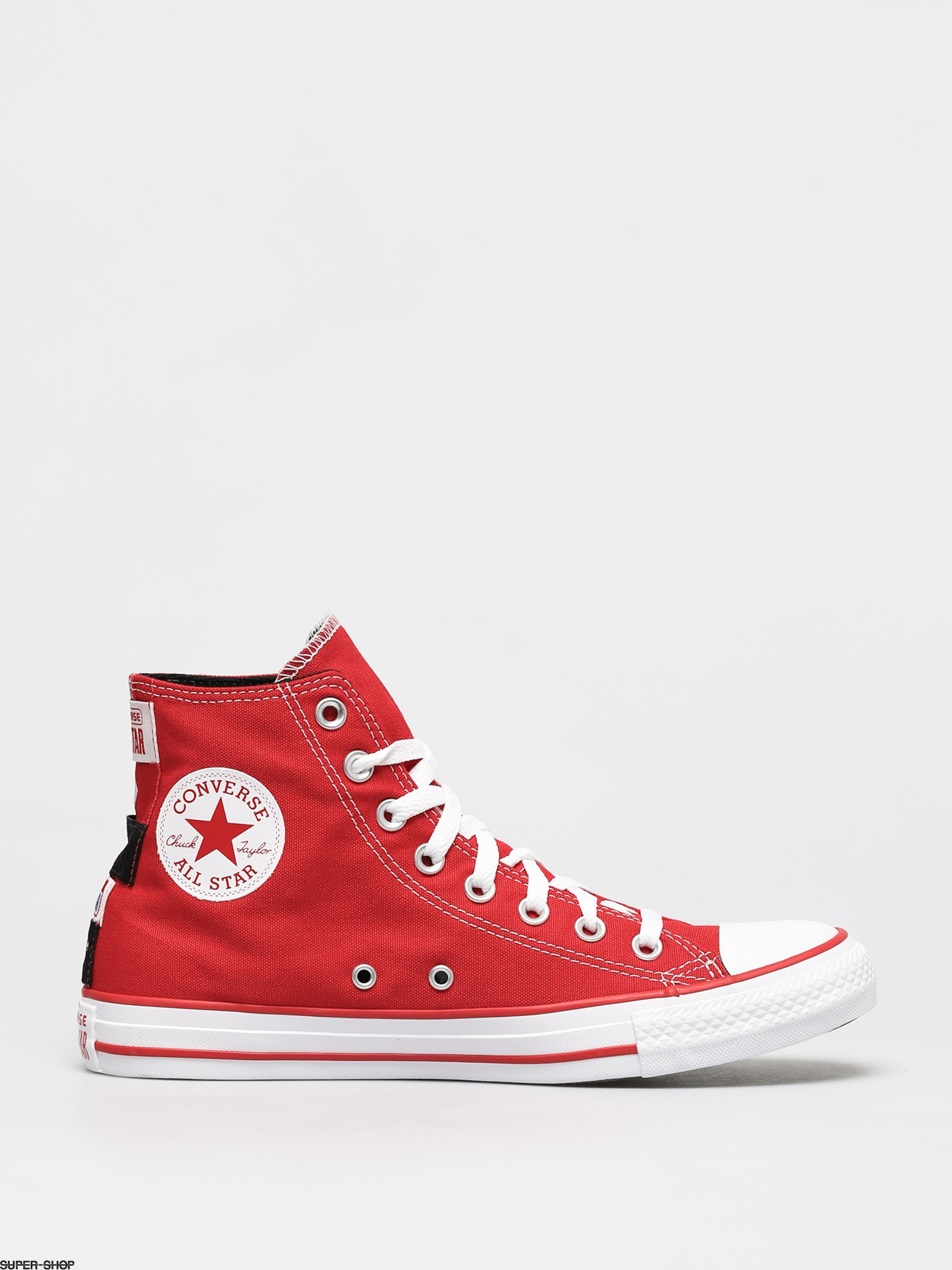 Star Heel Logos Hi Chucks (medium red