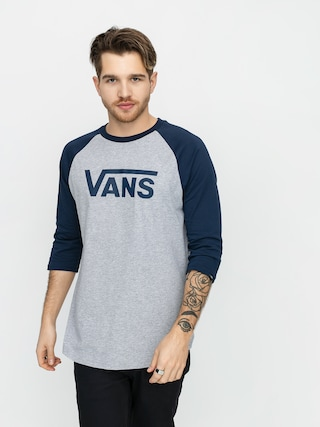 Vans Classic Raglan T-shirt (athletic heather/dress blues)