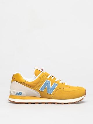 New Balance 574 Shoes (yellow/blue)