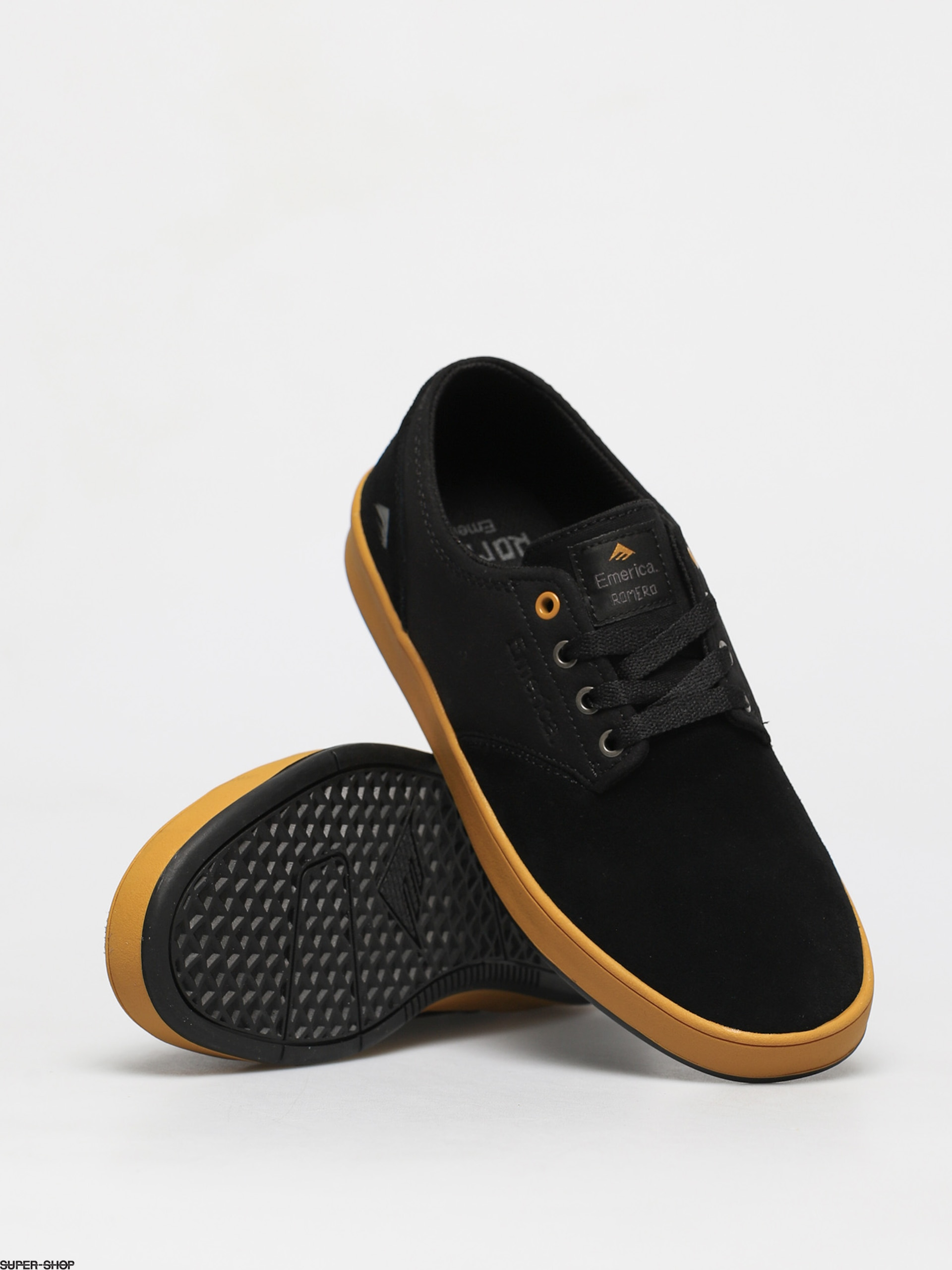 Romero Laced Shoes (black/yellow