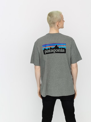 Patagonia P6 Logo Responsibili T-shirt (gravel heather)