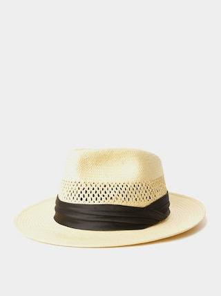 Brixton Goodman Straw Fedora Hat (tan)