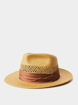 Brixton Goodman Straw Fedora Hat (copper)