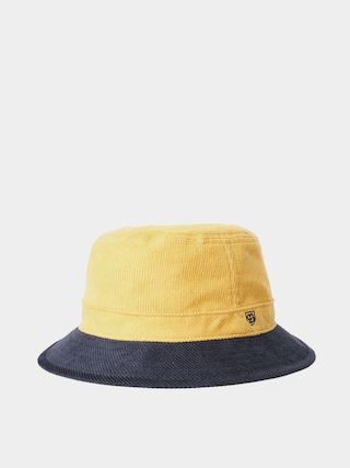 Brixton B Shield Bucket Hat (sunset yellow/washed navy)